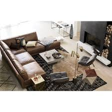 Organic Sectional Sofa Shop Gybson 4 Brown Leather Sectional Sofa Designed By