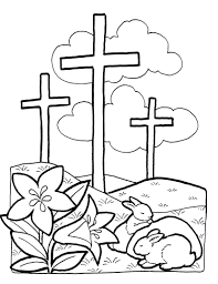 easter cross coloring page free download