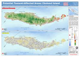 Solomon Islands Map Tunami Affected Areas Of Choiseul Island Map Choiseul Island