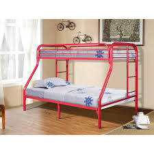 Metal Bunk Bed Frame Twin Over Full Metal Bunk Bed In Red
