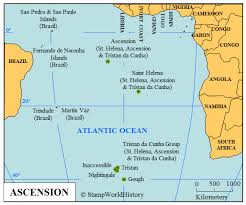ascension islands map ascension sts and postal history stworldhistory