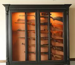locally amish custom made gun safe cabinet black painted wall