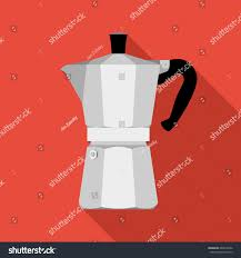 italian espresso maker italian coffee maker espresso machine moka stock vector 640616692