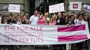 mariage pour tous les suisses pour l introduction du mariage pour tous selon un