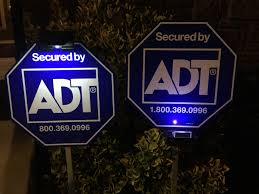 Solar Light by Adt Solar Yard Sign Light With 3 Leds
