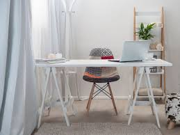 Home Office Desks Wood Small Modern Home Office Furniture Design With Wood Trestle Desk