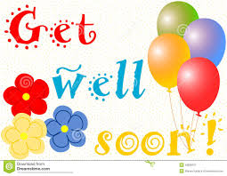 get well soon and balloons get well soon with balloons and flowers stock illustration image