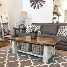 diy chunky farmhouse coffee table diy woodworking plans