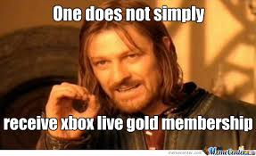 Xbox Live Meme - xbox live gold 12 month membership card 29 96 maplin let s