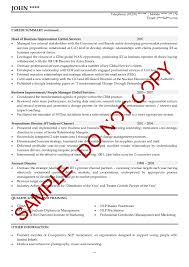 Samples Of Resume Writing by Executive Cv Examples The Cv Store