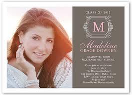 monogram grad x invitation card graduation invitations and what to