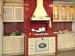 Red Kitchen With White Cabinets Red Brick Backsplash Kitchen U2013 Fitbooster Me