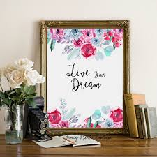 tangled art print live dream printable quote poster