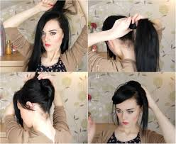 Easy Updo Hairstyles Step By Step by An Easy Up Do Hairstyle For Long Hair Vpfashion