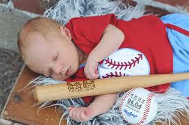 personalized baseball bat birth announcement baby boys gift