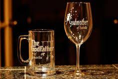 godmother wine glass christening gift for godfather godmother baptism gift for