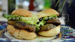 how to grill portobello veggie burgers youtube