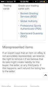 ebay ksa hypothetical ebay return of something psa says is fake