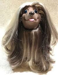 afghan hound long haired dogs hasbro sweetie pups afghan hound dog 1989 blonde brown 8