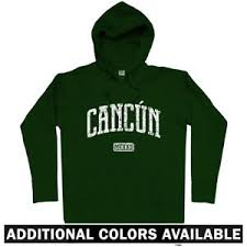 cancun hoodie mexico vacation resort mexican souvenir