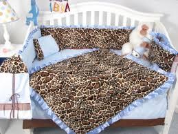 Soho Crib Bedding Set Soho Soft Blue Giraffe Minky Baby Crib Nursery Bedding Set 13 Pcs