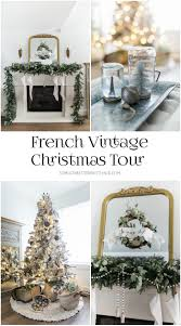 vintage christmas tree french vintage christmas living room and mantel tour so much