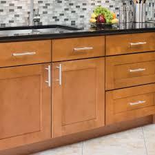 white oak wood honey raised door kitchen cabinet pulls backsplash