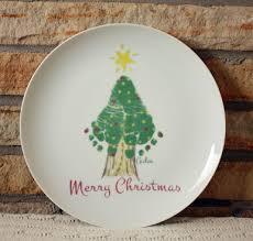 christmas plate footprint christmas tree plate forever prints