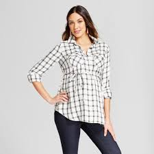 Maternity Plaid Shirt Maternity Plaid Popover Tunic Isabel Maternity By Ingrid