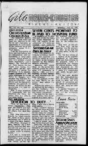 Sho Nr Kur newspaper gila news courier rivers ariz 1942 to 1945 library