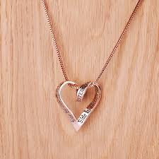plated rose gold necklace images Sisters rose gold plated message necklace by lauryn james jpg