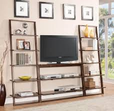 Leaning Ladder Shelf Plans Furniture Enchanting Large Leaning Bookcase Design Ideas
