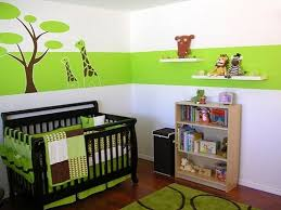 baby nursery decor colorful strips baby nursery paint green white