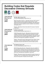 International Building Code Chimney King International Building Codes