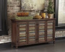 signature design by ashley mestler dark brown dining room server