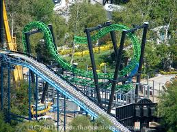 First Six Flags Green Lantern First Flight Going Up Fast At Six Flags Magic