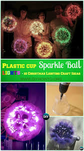 plastic cup christmas light ball christmas lights decoration