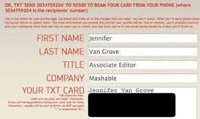 Networking Business Card Examples 8 Ways To Create Paperless Business Cards
