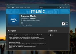 amazon music app amazon music comes to the windows 10 microsoft store on msft