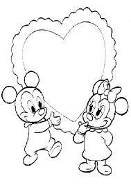 little mickey and minnie valentine coloring page valentine