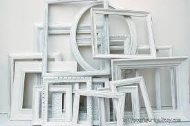 white frame collection set of 20 white shabby chic frames