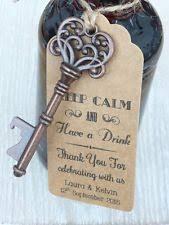 bottle opener wedding favors skeleton key bottle opener wedding favor and card