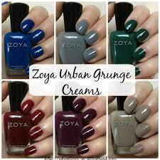 zoya nail polish urban grunge collection for fall 2016 creams