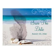Save The Date Destination Wedding Custom Ocean Save The Date Postcards Zazzle Ca