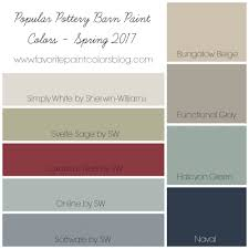 2016 Bestselling Sherwin Williams Paint by Popular Pottery Barn Paint Colors Favorite Paint Colors