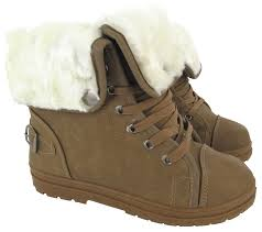 warm womens boots canada faux fur grip sole womens winter warm ankle boots trainers