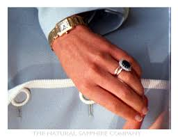 diana wedding ring beneath princess diana s sapphire engagement ring is gold