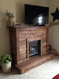 diy pallet wood faux fireplace for electric fireplace