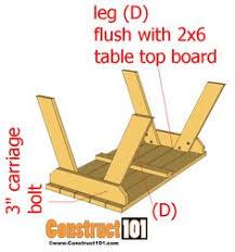 step 2 folding picnic table folding picnic table free plans sectional detail plans picnic
