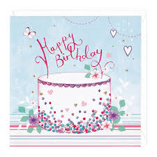 happy birthday cake card whistlefish
